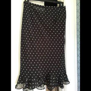 Ann Taylor black and white polka dot skirt.